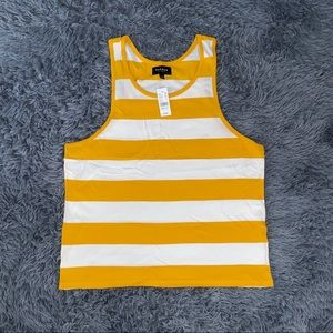 NEW Pacsun Tank Top Yellow White Summer Striped